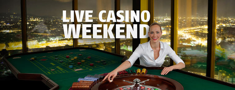 Bwin Live Casino Weekend dealer at table